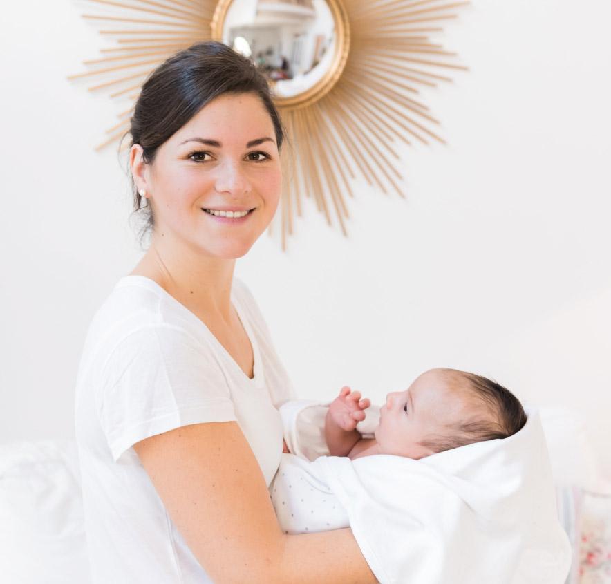 Katharina Winterheller und ein Baby